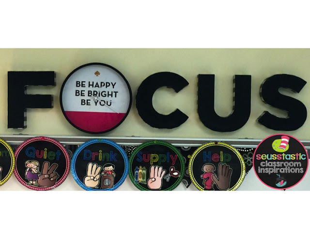 Focus Wall with cardboard letters