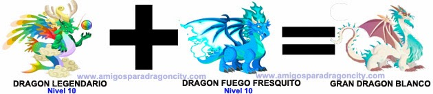 como sacar el gran dragon blanco en dragon city combinacion 1