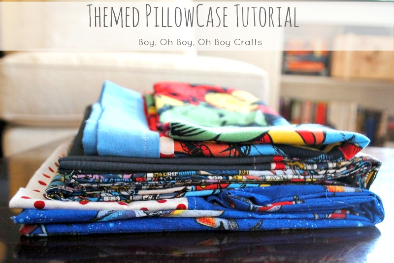 themed pillowcase tutorial