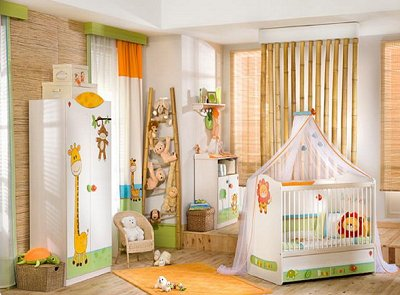Lots more fun jungle themed baby bedroom decorating ideas here