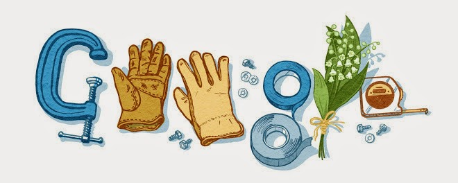 """Sursa/Source: time.com; """"International Labour Day and Google is marking the event with a new Doodle""""..."""