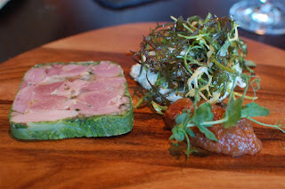 Stitch and Bear - Old Spot ham hock terrine at the Box Tree