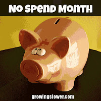 No Spend Month Blog Badge
