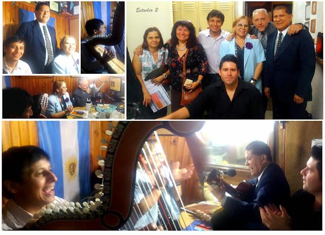 Dardo Noguera y Mario Ferreyra visitando a Susana Nievas y Cesar Karles