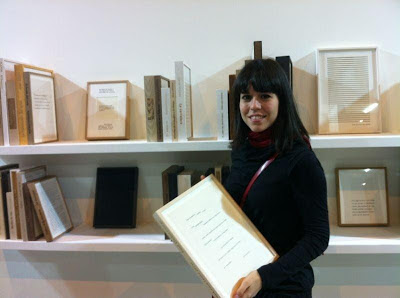 Almudena Lobera with her art work ARCO