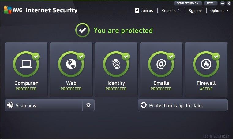 AVG Internet Security 2015 Serial válido atualizado