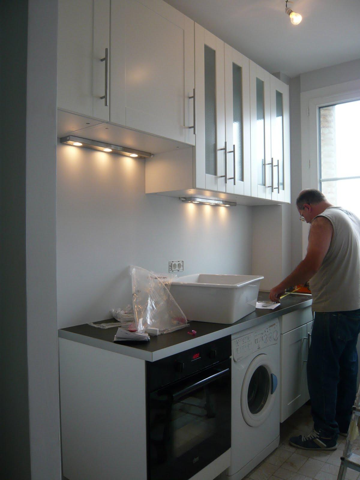 Bo travo concept peintures parquet cuisine - Pose d une cuisine ikea ...