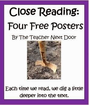 1.http://www.teacherspayteachers.com/Product/Close-Reading-Four-Posters-by-the-Teacher-Next-Door-1038678