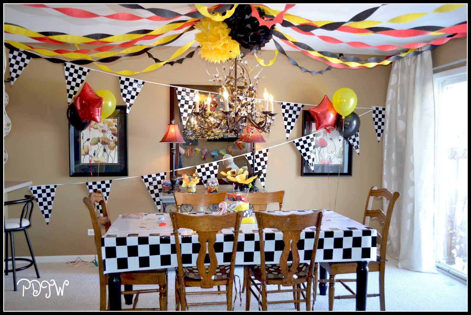 Cars Table Decorations Pampered Daughter Thrifty Wife Evans 2nd Birthday Party Cars 2