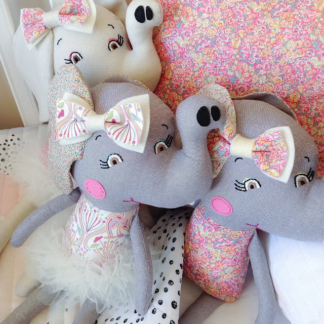 Liberty Elephant Dolls by Rhapsody and Thread