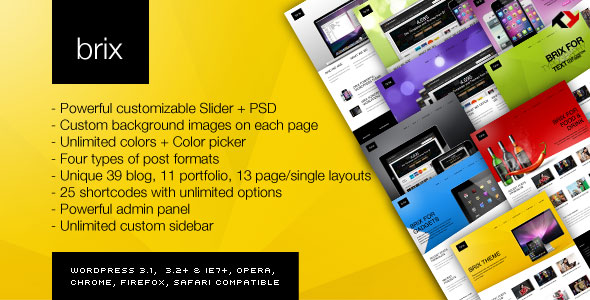 Brix Wordpress Theme Free Download by ThemeForest.