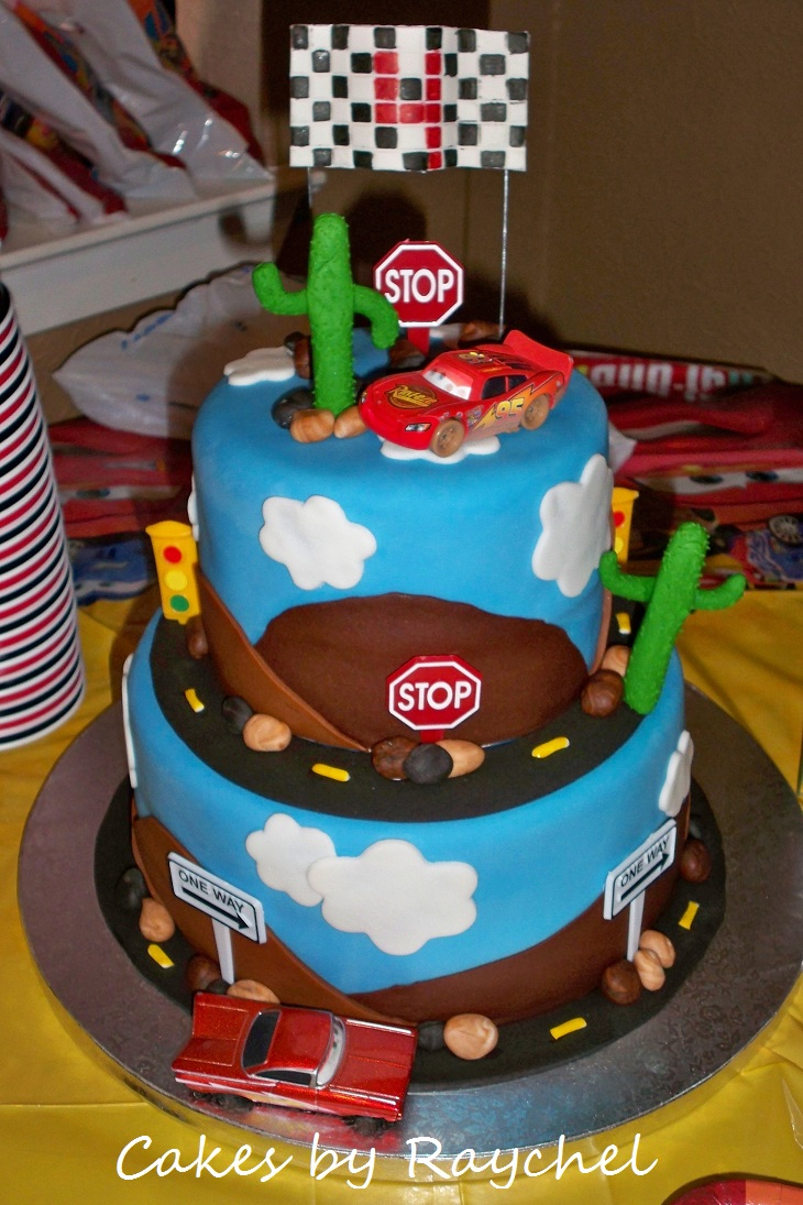 Disney Cars Cake Images : My Creative Way: Disney Cars cake. 2 tiers. Sweet Friday!
