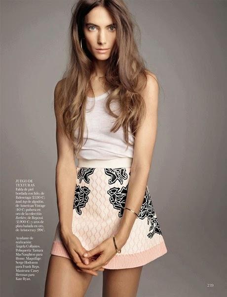Balenciaga SS 2014 Editorial: Jacquard Pink Sportsuit