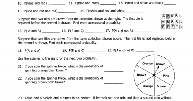 Printables Probability Independent And Dependent Events Worksheet With Answers probability independent and dependent events worksheet versaldobip davezan