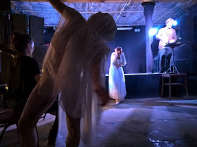 Robert Hugill The Genesis of Frankenstein The Helios Collective with Mimi Jaeger, Anuschka Socher, Isolde Roxby, Noah Mosley at CLF Arts Cafe as part of Toi Toi 2015