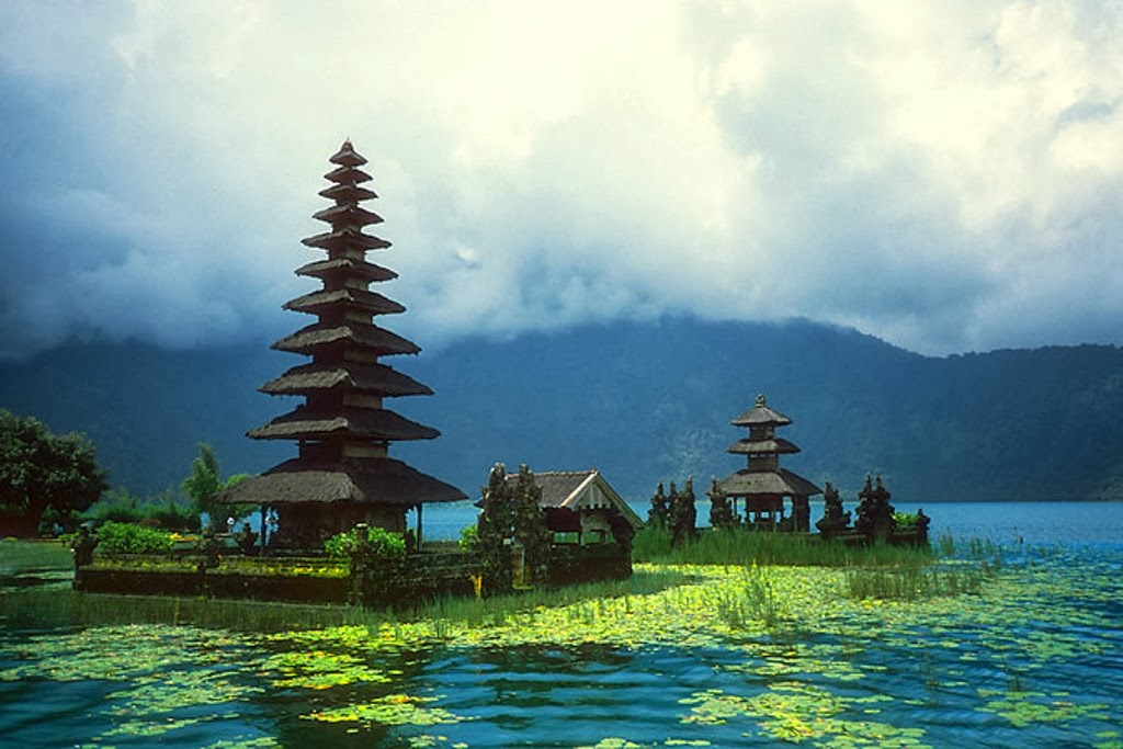 Garden bedugul is the name of both a smallcity and a mountain lake