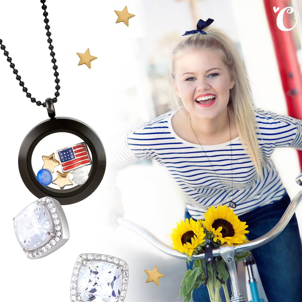 Say Happy Labor Day with Origami Owl Living Locket | Shop StoriedCharms.com to create your own