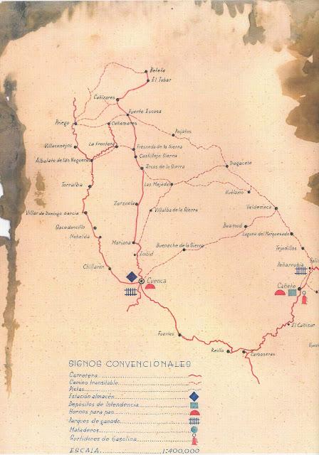 jefatura intendencia-xix cuerpo ejercito-guerra civil-carreteras