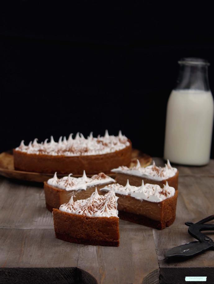receta de tarta de crema de chocolate casera