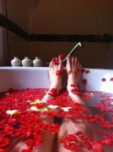 Flowery bathwater.