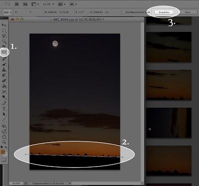 straighten the horizon in photoshop