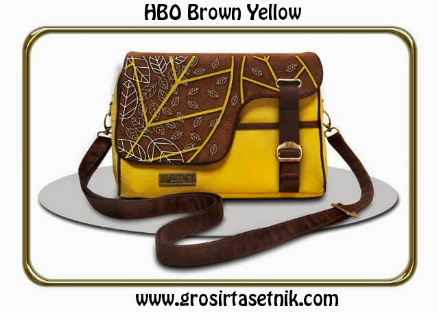 model terbaru makara etnik HBO brown yellow 2015