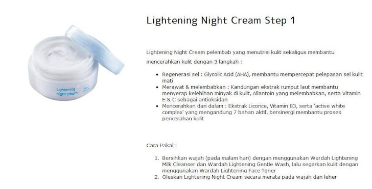 Lightening Night Cream Step 1 = $15
