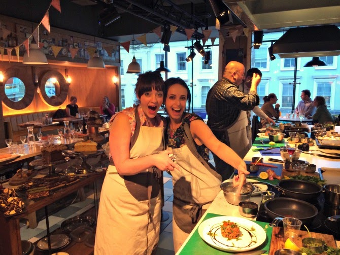 Alaskan Salmon cookery class at Jamie Oliver's Recipease
