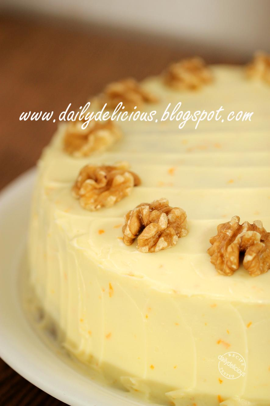 dailydelicious: Carrot Cake with Mascarpone and Orange Frosting