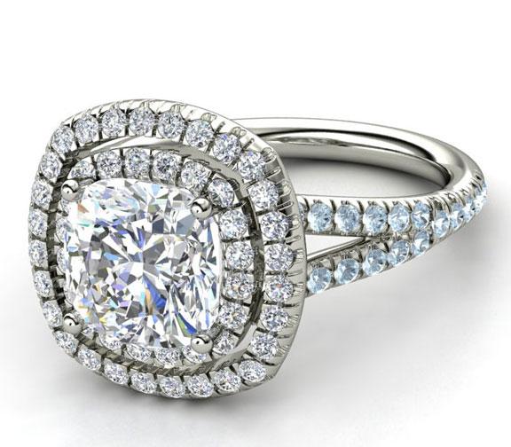 Hawaiian Wedding Rings Sets 75 Popular Cushion cut engagement rings