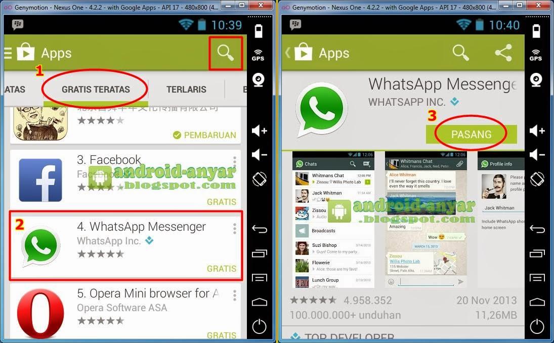Setelah Terpasang Buka Ikon WhatsApp Yang Tersedia Jika Muncul