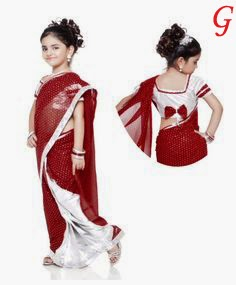 Baby Saree Images-Cute Girls Saree Pics