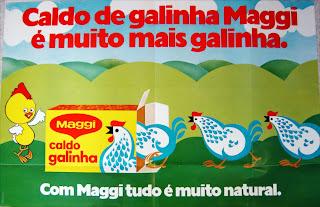 propaganda caldo de galinha Maggi - 1976