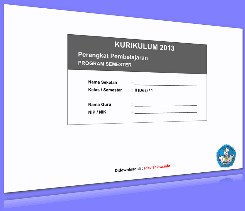 PROGRAM SEMESTER KELAS 2 KURIKULUM 2013 UPDATE 2016