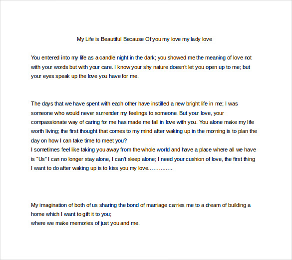 Love Letter For Her. Proper Love Letter For Her Good Day Love