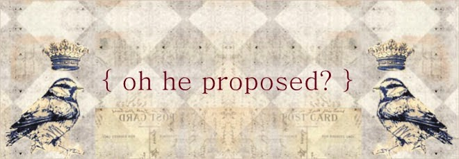 oh he proposed?