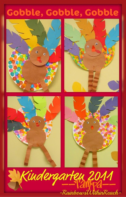 photo of: Turkey Bulletin Board with Painted Polka Dots (from Bulletin Board RoundUP via RainbowsWithinReach) 