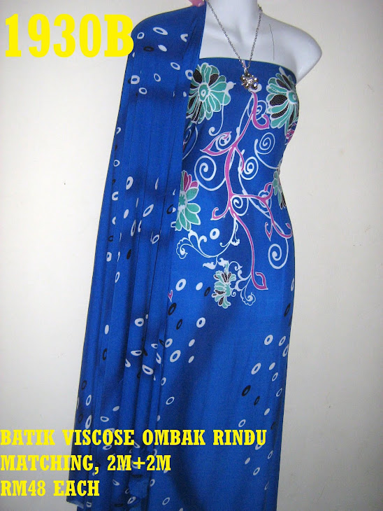 BVM 1930B: BATIK VISCOSE OMBAK RINDU MATCHING, EXCLUSIVE DESIGN, 2M+2M