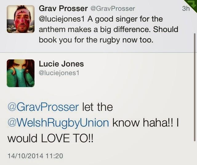 @GravProsser, @luciejones1, Twitter, tweets