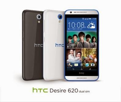 HTC Desire 620 dan Desire 620G resmi dirilis, harga 2 juta-an