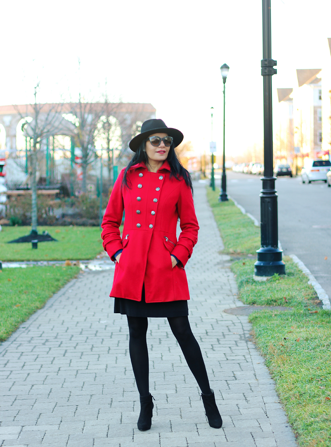 Red Military Coat, Red Wool Coat