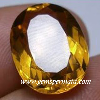 Batu Permata Natural Citrine Quartz