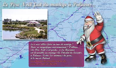 Le Père Noël fait du manège à Palavas