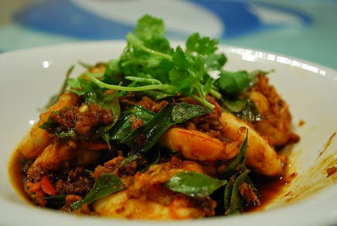 Stir Fried Prawns with Sesame and Tomato Sauce