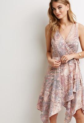 Asymmetric Printed Wrap Dress at forever21.com