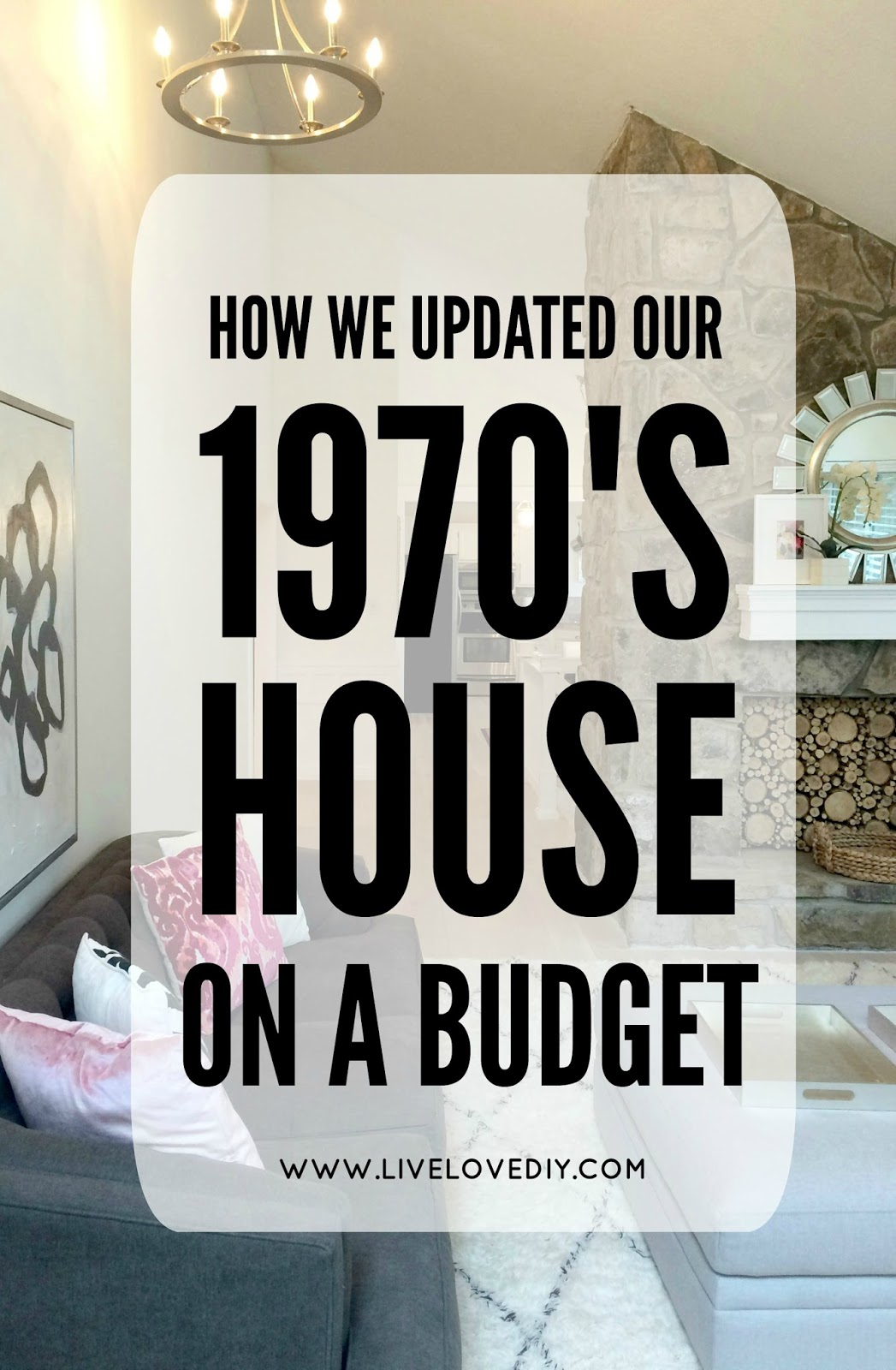 How We Updated Our 1970u0027s House On A Budget (and The Living Room REVEAL!)