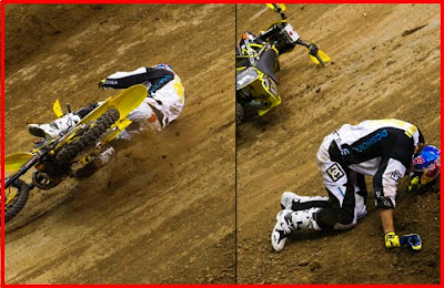 Travis Pastrana broke his right foot and ankle at X Games