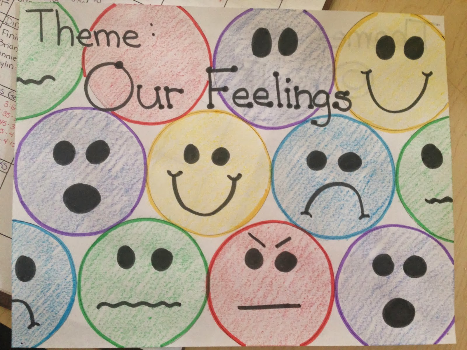 Keep calm and teach on our feelings c triangle for Emotion art projects