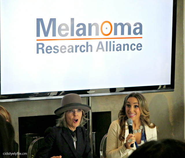 diane keaton, melanoma awareness, loreal paris, beverly hills, hollywood, celebrity event, cid style file,