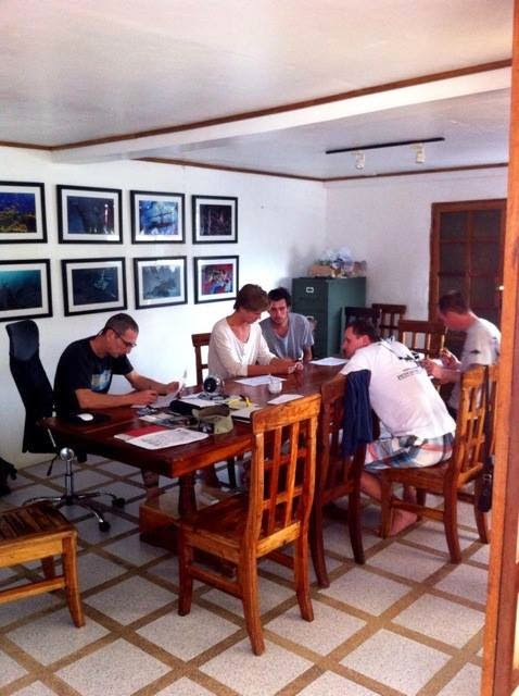 PADI 5* IDC Center 'Neptune Diving Adventures' in Moalboal, Philippines, the classroom